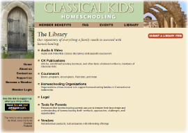 The Library of Resources at classicalkids.net
