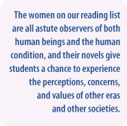 The value of reading novels by women